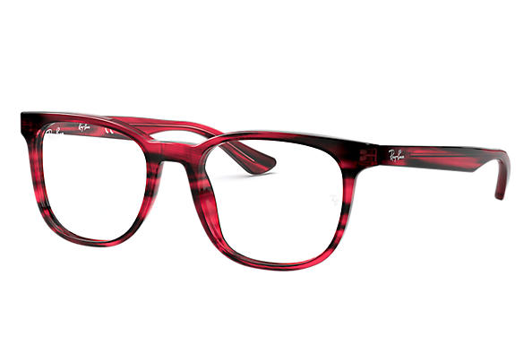 Ray-Ban 0RX5369-RB5369 Striped Red,Havana rayé rouge OPTICAL