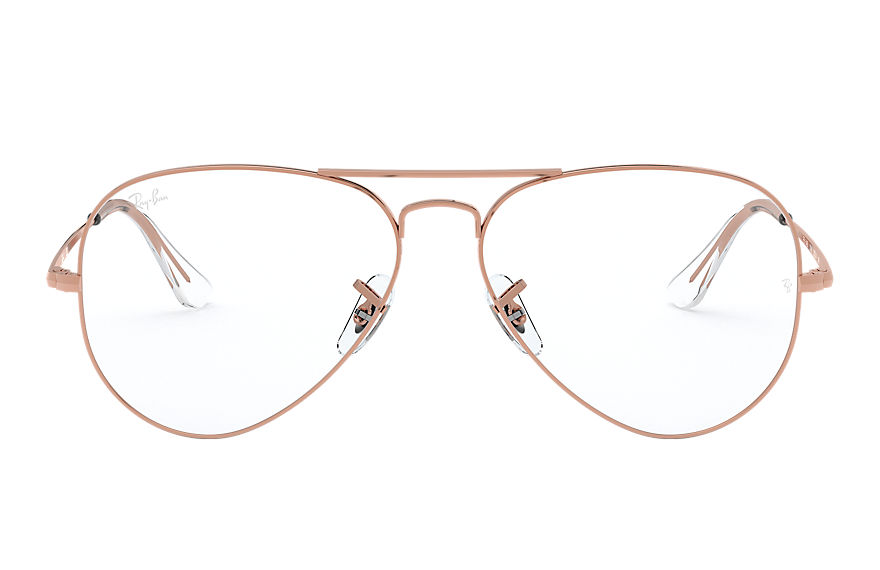 Ray-Ban  graduados RX6489 UNISEX 001 aviator optics shiny rose gold 8056597261852