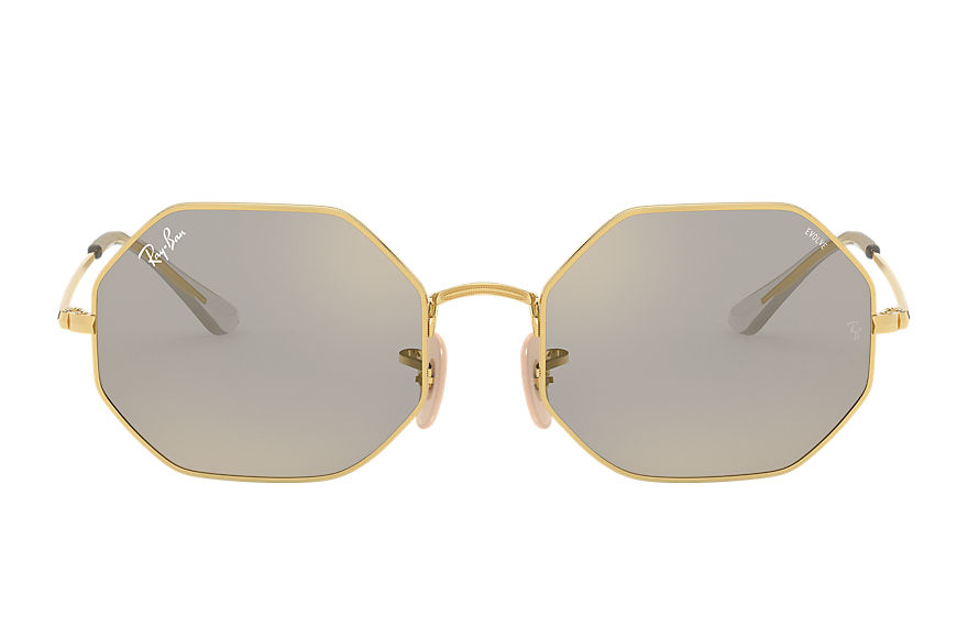 Ray-Ban  sunglasses RB1972 UNISEX 001 octagon 1972 mirror evolve shiny gold 8056597262101