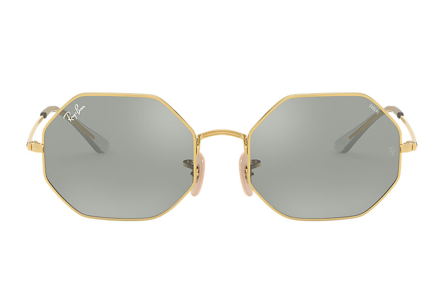 Ray-Ban  sunglasses RB1972 UNISEX 001 octagon 1972 mirror evolve shiny gold 8056597262125