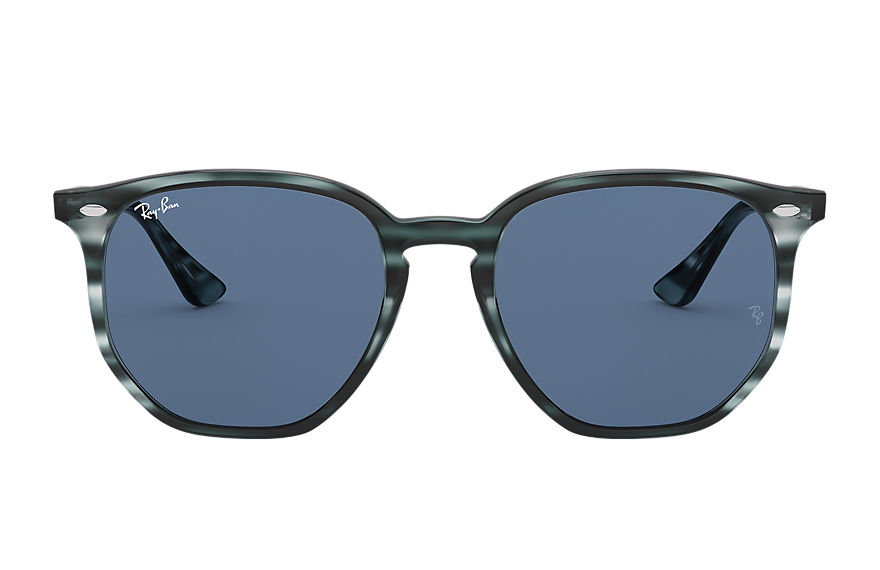 Ray-Ban Sunglasses RB4306F Striped Blue Havana with Dark Blue Classic lens
