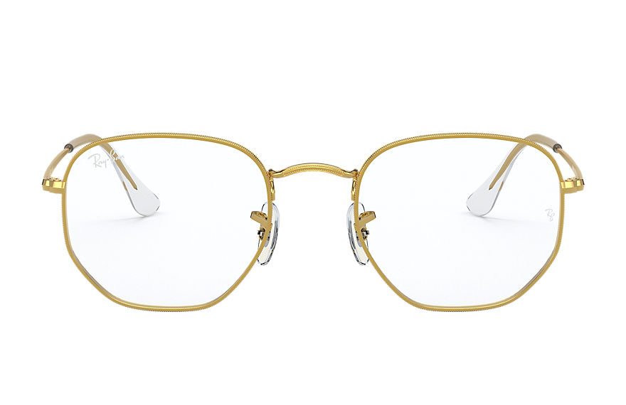 Ray-Ban  eyeglasses RX6448 UNISEX 001 hexagonal optics gold 8056597266635