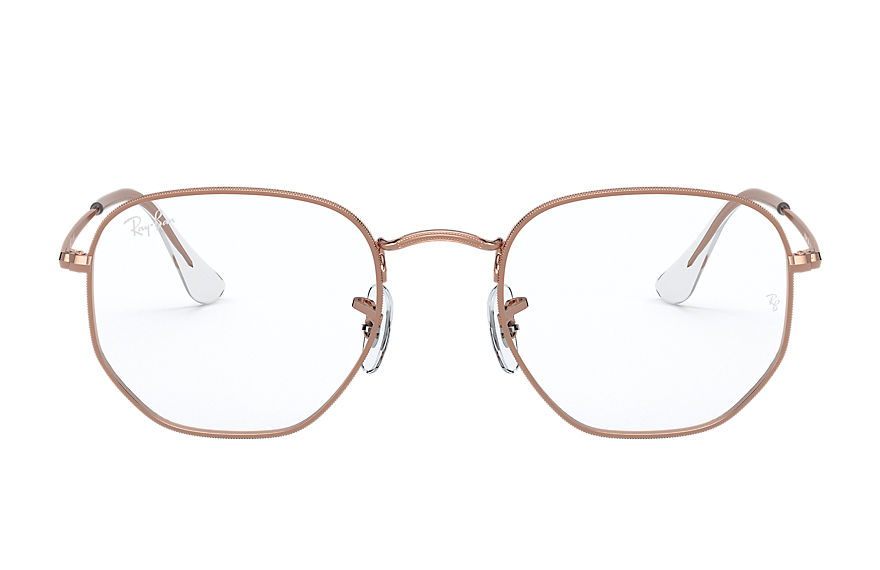 Ray-Ban  eyeglasses RX6448 UNISEX 001 hexagonal optics shiny rose gold 8056597266659
