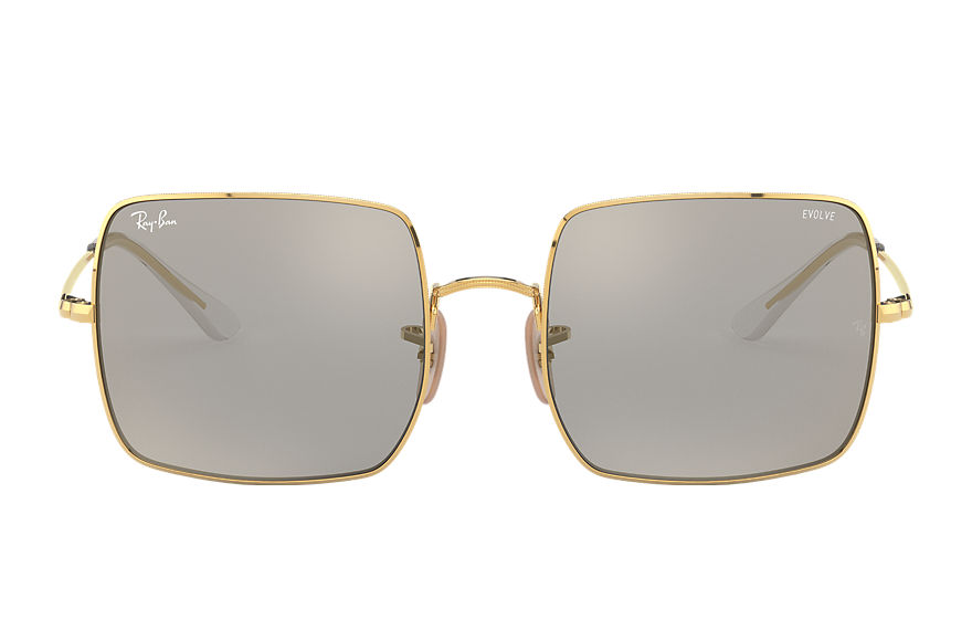 Ray-Ban  sunglasses RB1971 FEMALE 003 square 1971 mirror evolve blank guld 8056597285926