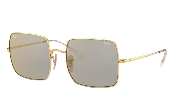 Ray-Ban 0RB1971-SQUARE 1971 MIRROR EVOLVE Shiny Gold,Gold; Gold SUN