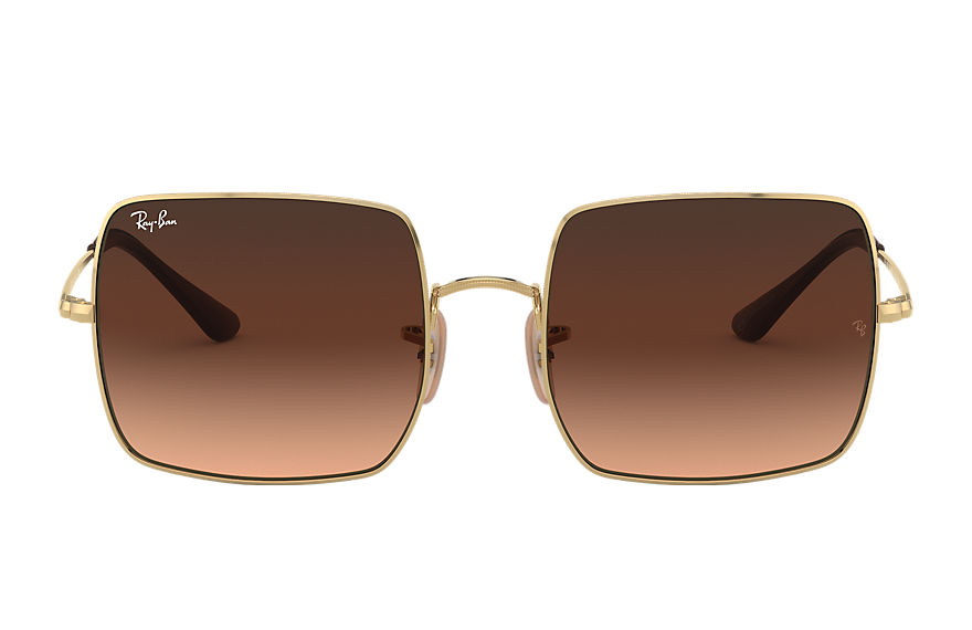 Ray-Ban  sunglasses RB1971 FEMALE 002 square 1971 online exclusive gold 8056597293594