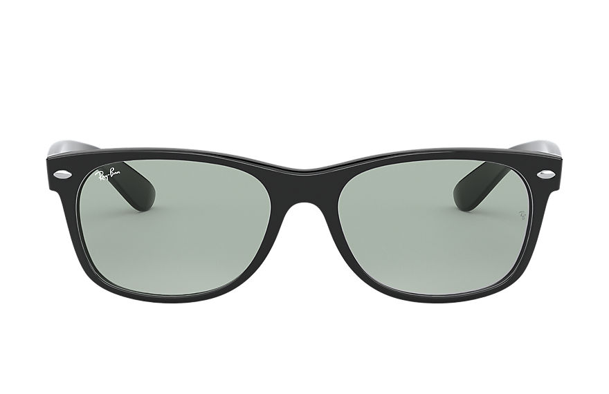 Ray-Ban Sunglasses NEW WAYFARER CLASSIC LOW BRIDGE FIT Shiny Black with Light Grey Classic lens