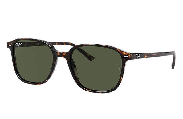 Ray-Ban Sunglasses LEONARD Tortoise with Green Classic G-15 lens