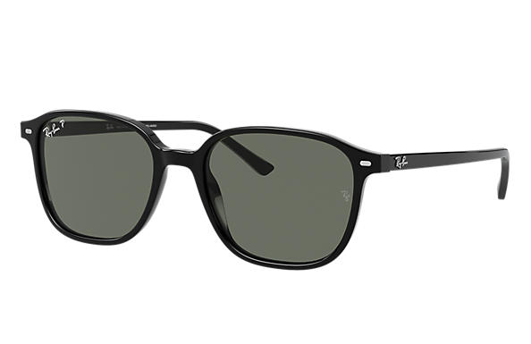 Ray-Ban Sunglasses LEONARD Black with Green Classic G-15 lens