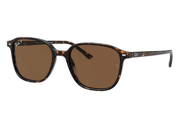 Ray-Ban Sunglasses LEONARD Tortoise with Brown Classic B-15 lens
