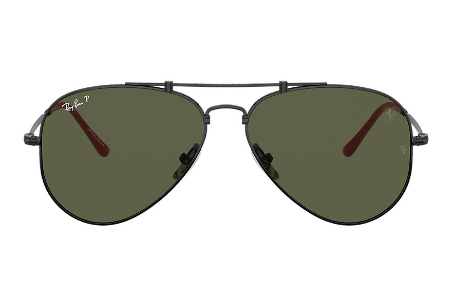 Ray-Ban Sunglasses SCUDERIA FERRARI COLLECTION LIMITED EDITION ITALIA Black with Green Classic G-15 lens