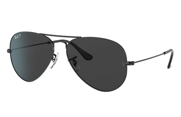 Ray-Ban Sunglasses AVIATOR TOTAL BLACK Black with Black Classic lens