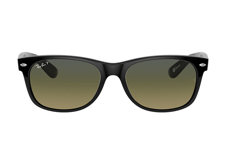 Ray-Ban Sunglasses New Wayfarer @Collection Black with Blue/Green Gradient lens
