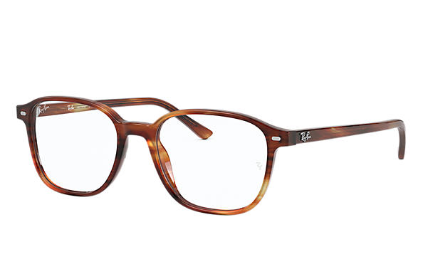 Ray-Ban Eyeglasses LEONARD OPTICS Striped Havana