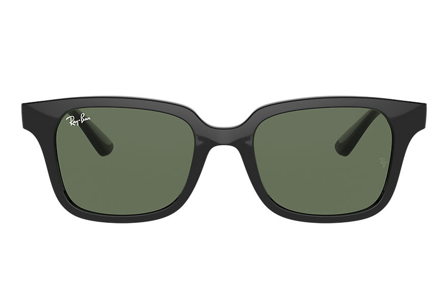 Ray-Ban Sunglasses RB9071S Shiny Black with Green Classic lens