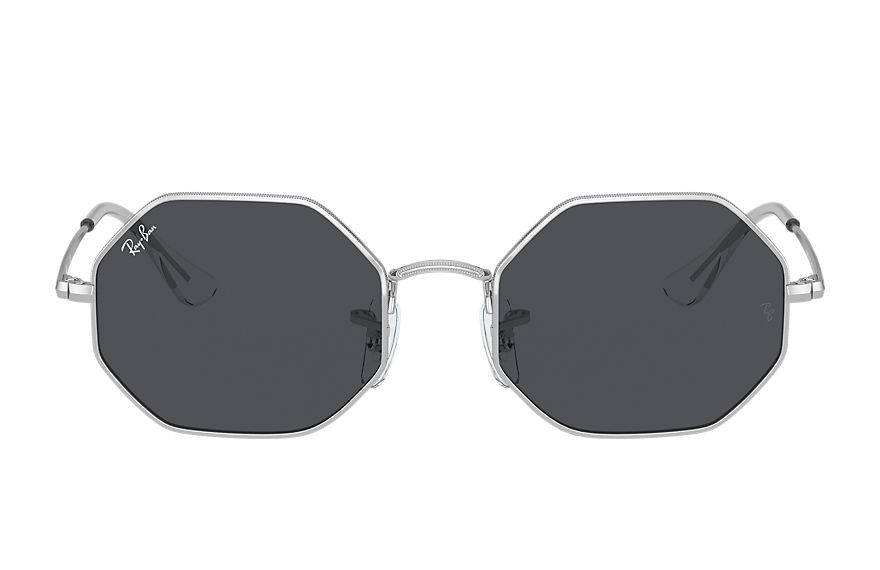 Ray-Ban  occhiali da sole RJ9549S UNISEX 001 octagon junior shiny silver 8056597351782