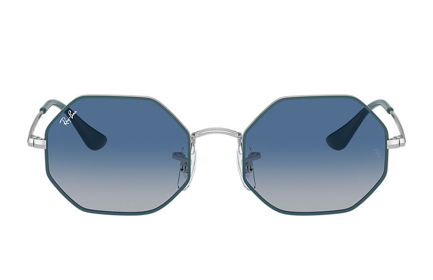 Ray-Ban  occhiali da sole RJ9549S UNISEX 004 octagon junior shiny silver 8056597351812