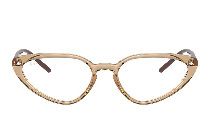 Ray-Ban  eyeglasses RX7188 FEMALE 003 rb7188 shiny transparent brown 8056597360135