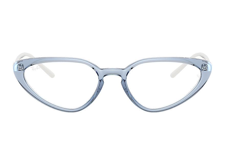 Ray-Ban  eyeglasses RX7188 FEMALE 005 rb7188 shiny transparent blue 8056597360173
