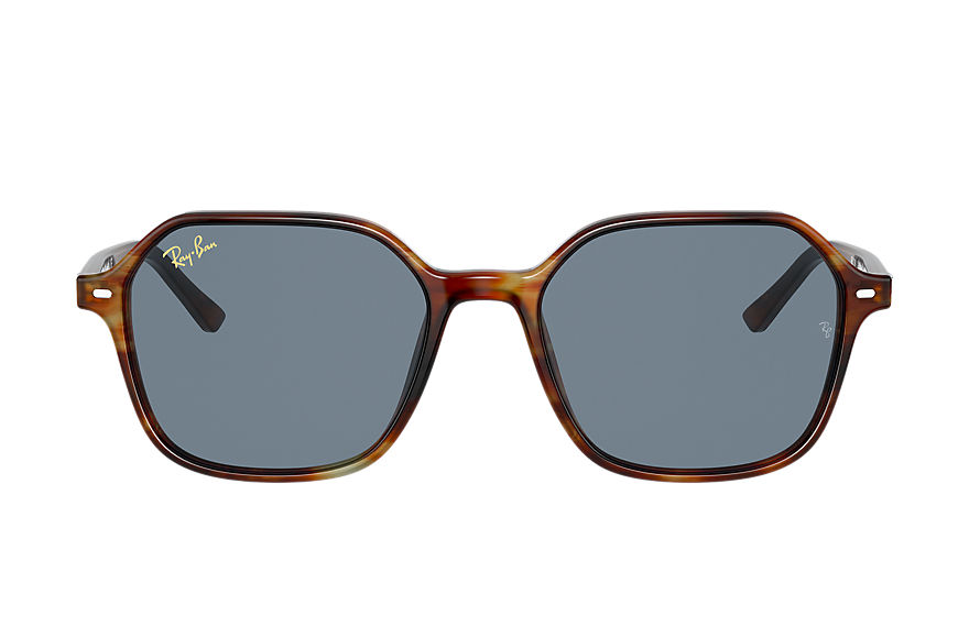 Ray-Ban Sunglasses JOHN Striped Tortoise with Blue Classic lens