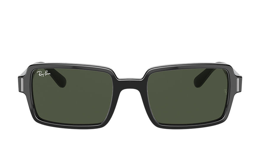 Ray-Ban Sunglasses BENJI Shiny Black with Green Classic G-15 lens