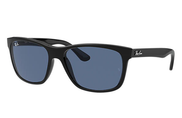 Ray-Ban Sunglasses RB4181 Shiny Black with Dark Blue Classic lens