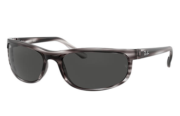 Ray-Ban Sunglasses PREDATOR 2 Striped Grey with Dark Grey Classic lens