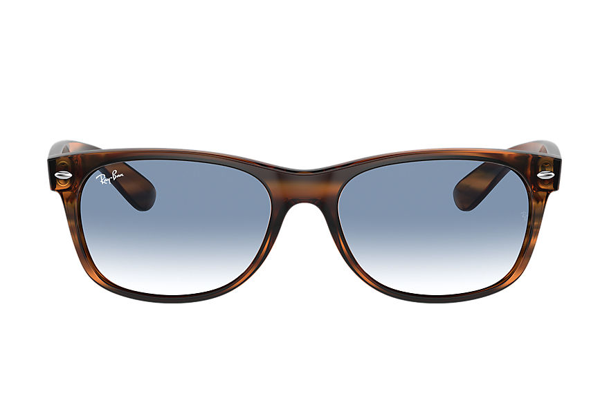 Ray-Ban  sunglasses RB2132 UNISEX 001 new wayfarer color mix striped brown 8056597364980