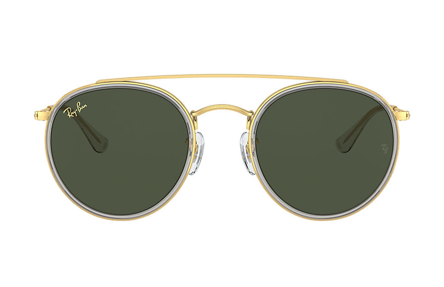 Ray-Ban  lunettes de soleil RB3647N UNISEX 002 round double bridge legend gold or brillant 8056597365048