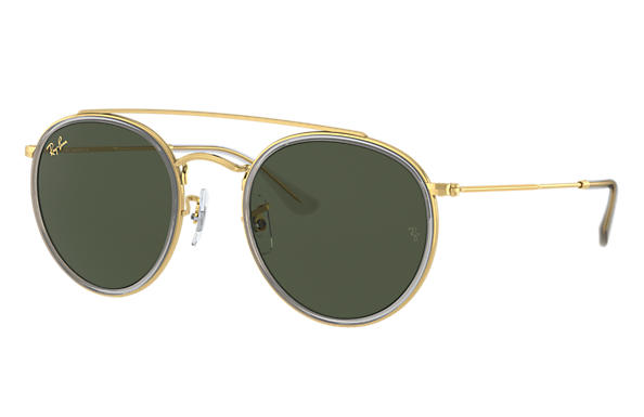Ray-Ban 0RB3647N-ROUND DOUBLE BRIDGE LEGEND GOLD Shiny Gold; Shiny Gold,Gold SUN