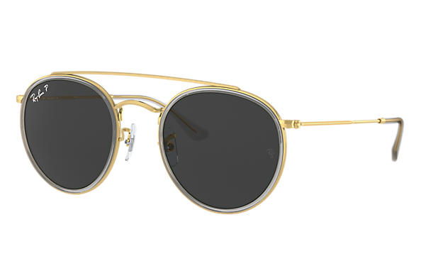 Ray-Ban 0RB3647N-ROUND DOUBLE BRIDGE Oro brillante; Oro brillante,Oro SUN