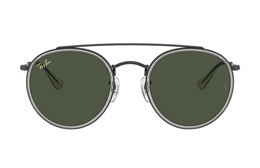 Ray-Ban  lunettes de soleil RB3647N UNISEX 001 round double bridge legend gold noir brillant 8056597365086
