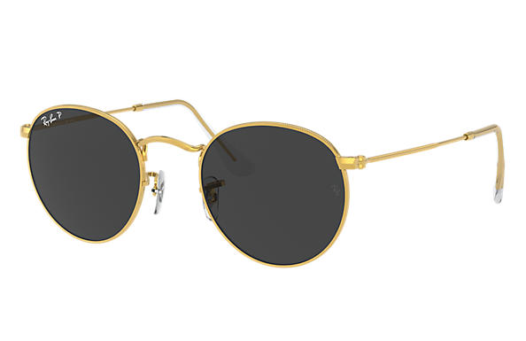Ray-Ban Sunglasses ROUND METAL CLASSIC Shiny Gold with Black Classic lens