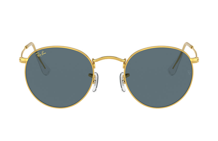 Ray-Ban  occhiali da sole RB3447 MALE 002 round metal legend gold oro brillante 8056597365123
