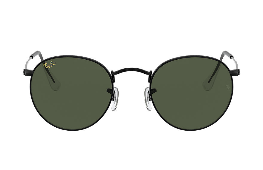 Ray-Ban  occhiali da sole RB3447 MALE 004 round metal legend gold nero brillante 8056597365185