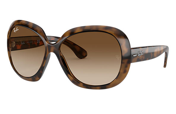 Ray-Ban Sunglasses JACKIE OHH II Shiny Tortoise with Brown Gradient lens