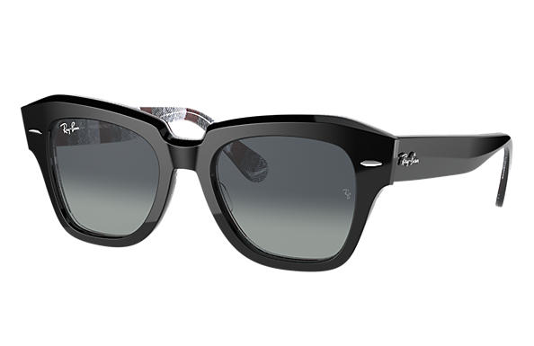 Ray-Ban Sunglasses STATE STREET Blue with Light Blue Gradient lens