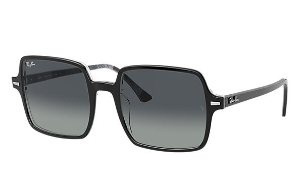 Ray-Ban Sunglasses SQUARE II Black with Light Grey Gradient lens