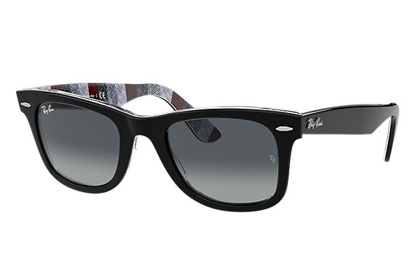 Ray-Ban Sunglasses ORIGINAL WAYFARER COLOR MIX Black with Light Grey Gradient lens