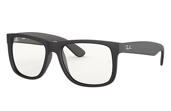 Ray-Ban Sunglasses JUSTIN CLEAR Rubber Black with Clear  lens