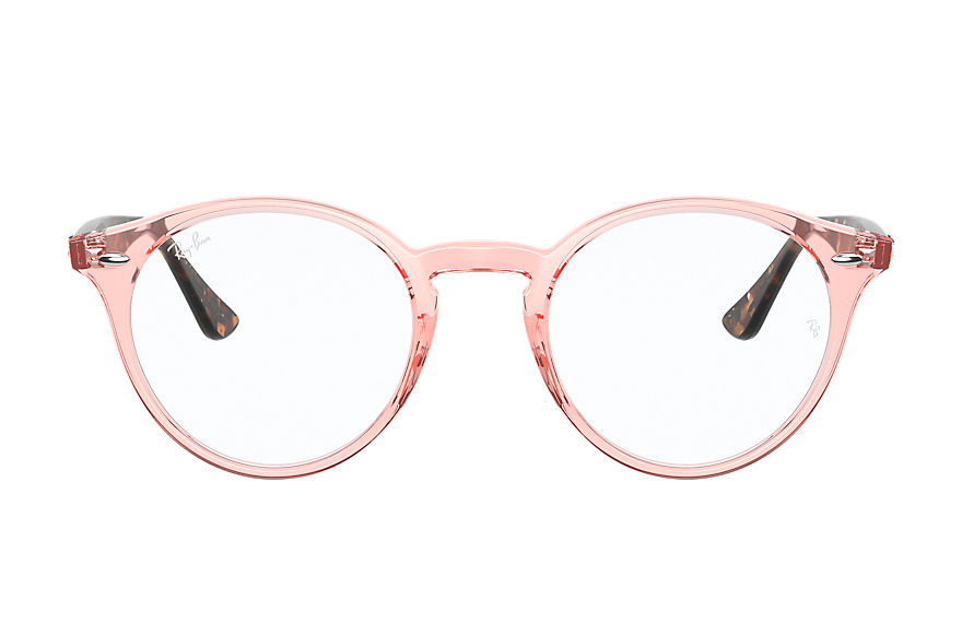 Ray-Ban  eyeglasses RX2180V UNISEX 002 rb2180v shiny transparent pink 8056597367561
