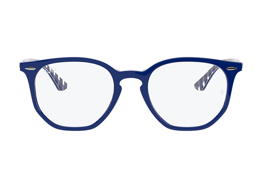 Ray-Ban  eyeglasses RX7151 UNISEX 002 rb7151 hexagonal optics blue 8056597368216