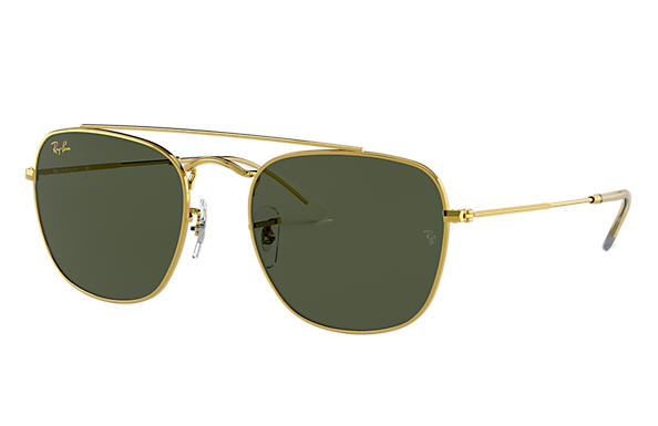 Ray-Ban Sunglasses RB3557 LEGEND GOLD Shiny Gold with Green Classic G-15 lens