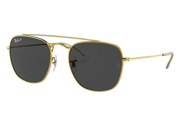Ray-Ban Sunglasses RB3557 Shiny Gold with Black Gradient lens