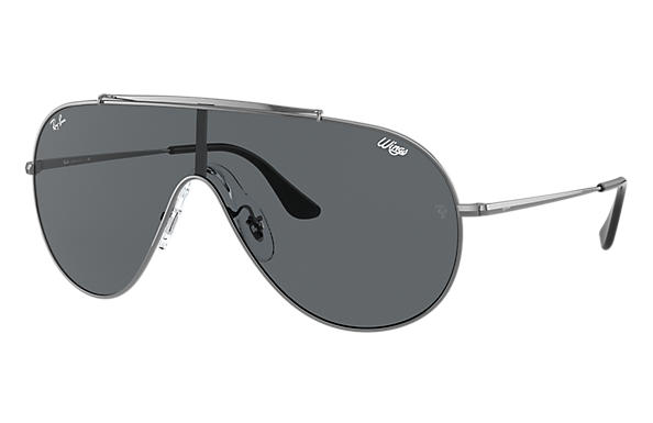 Ray-Ban Sunglasses WINGS Gunmetal with Grey Classic lens