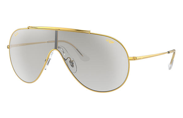 Ray-Ban Sunglasses WINGS LEGEND GOLD Shiny Gold with Clear Silver Gradient lens