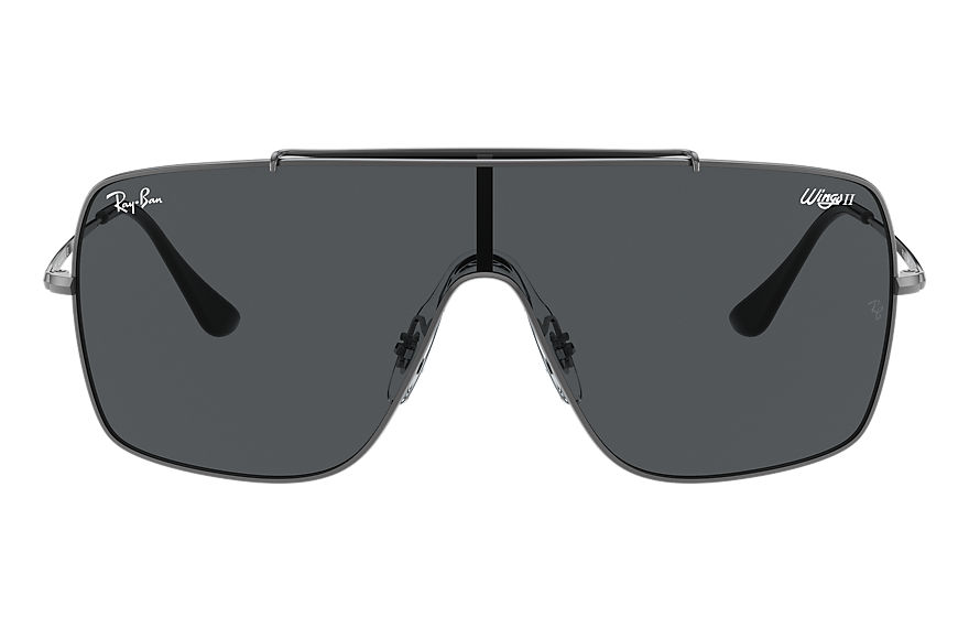 Ray-Ban Sunglasses WINGS II Gunmetal with Grey Classic lens