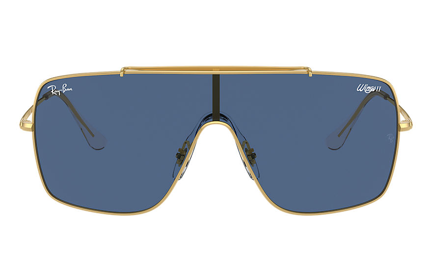 Ray-Ban  sunglasses RB3697 MALE 002 wings ii shiny gold 8056597369237