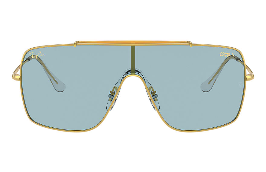 Ray-Ban  sunglasses RB3697 MALE 004 wings ii legend logo shiny gold 8056597369251