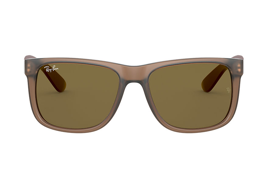 Ray-Ban  sunglasses RB4165F MALE 004 justin color mix low bridge fit transparent brown 8056597369312